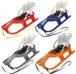 Санки детские KHW Snow Tiger Comfort со спинкой 29400, цвет металлик